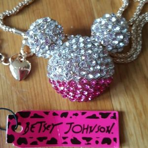 NWT BETSEY JOHNSON Minnie Mouse Pink Necklace